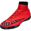 Nike MercurialX Proximo Indoor Shoes - Bright Crimson and Hot Lava