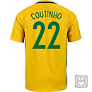 Nike Kids Philippe Coutinho Brazil Home Jersey 2016
