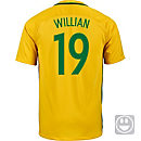 Nike Kids Willian Brazil Home Jersey 2016