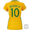 Nike Womens Neymar Jr. Brazil Home Jersey 2016-17