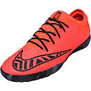 Nike MercurialX Finale Indoor Shoes - Bright Crimson and Black