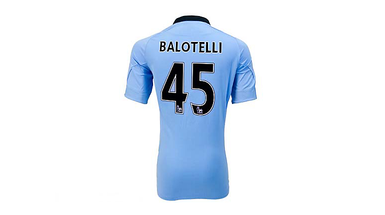 Umbro Manchester City Balotelli Home Jersey 2012-2013