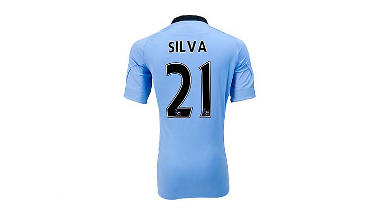 Umbro Manchester City Silva Home Jersey 2012-2013