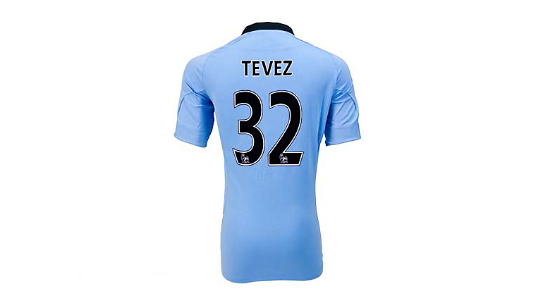 Umbro Manchester City Tevez Home Jersey 2012-2013