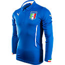 Puma Italy Long Sleeve Home Jersey  World Cup 2014