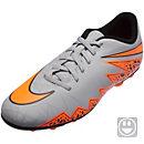 Nike Kids Hypervenom Phade II FG Soccer Cleats - Grey and Black