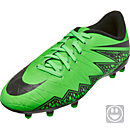 Nike Kids Hypervenom Phelon II FG Soccer Cleats - Green and Black