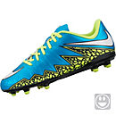 Nike Kids Hypervenom Phelon II FG Soccer Cleats -  Blue and White