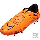 Nike Kids Hypervenom Phelon II FG Soccer Cleats - Orange and Black