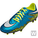 Nike Womens Hypervenom Phelon II FG Soccer Cleats - Blue and White