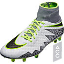 Nike Hypervenom Phantom II FG Soccer Cleats - Pure Platinum & Ghost Green