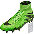 Nike Hypervenom Phantom II FG Soccer Cleats - Green and Black
