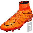 Nike Hypervenom Phantom II FG Soccer Cleats - Orange and Orange