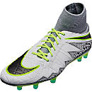 Nike Hypervenom Phatal II DF FG Soccer Cleats - Pure Platinum & Ghost Green