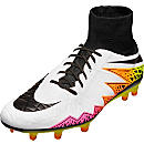 Nike Hypervenom Phatal II DF FG Soccer Cleats- White & Total Orange