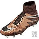 Nike Kids Hypervenom Phantom II FG Soccer Cleats - Metallic Red Bronze