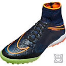 Nike Kids HypervenomX Proximo TF Soccer Shoes - Black & Total Orange