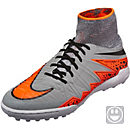 Nike Kids Hypervenom Proximo Street Turf Shoes - Wolf Grey & Total Orange