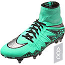 Nike Hypervenom Phantom II SG-Pro Soccer Cleats - Green Glow & Hyper Orange