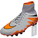 Nike Hypervenom Phantom II AG-R Soccer Cleats - Grey and Black