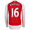 Puma Aaron Ramsey Arsenal L/S Home Jersey 2015-16