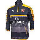 Puma Arsenal 1/4 Zip Training Top - Ebony & Spectra Yellow