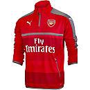 Puma Arsenal 1/4 Zip Training Top - High Risk Red & Steel Gray
