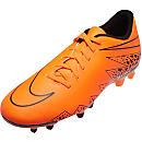 Nike Hypervenom Phade II FG Soccer Cleats - Orange and Black