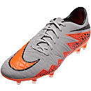 Nike Hypervenom Phatal II FG Soccer Cleats - Grey and Black