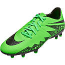 Nike Hypervenom Phelon II FG Soccer Cleats - Green and Black