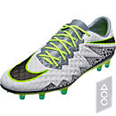 Nike Hypervenom Phinish FG Soccer Cleats - Pure Platinum & Ghost Green