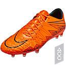 Nike Hypervenom Phinish FG Soccer Cleats - Orange and Black