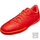 Nike Kids Hypervenom Phelon II IC Soccer Shoes - Bright Crimson & Total Crimson
