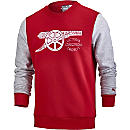 Puma Arsenal Fan Sweatshirt - Chili Pepper & Light Gray Heather