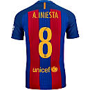 Nike Andres Iniesta Barcelona Match Home Jersey 2016-17