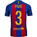 Nike Gerard Pique Barcelona Match Home Jersey 2016-17