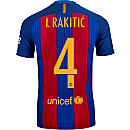 Nike Ivan Rakitic Barcelona Match Home Jersey 2016-17