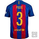 Nike Kids Gerard Pique Barcelona Home Jersey 2016-17