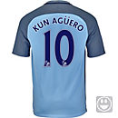 Nike Kids Sergio Aguero Manchester City Home Jersey 2016-17