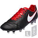 Nike Tiempo Legend FG Soccer Cleats - Derby Days - Black & University Red