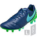 Nike Tiempo Legend VI FG Soccer Cleats - Coastal Blue & Rage Green