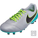 Nike Kids Tiempo Legend VI FG Soccer Cleats - Wolf Grey & Clear Jade
