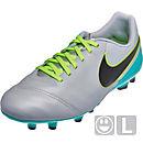 Nike Kids Tiempo Legend VI FG Soccer Cleats - Wolf Grey & Clear Jade