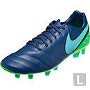 Nike Tiempo Legacy II FG Soccer Cleats - Coastal Blue & Rage Green