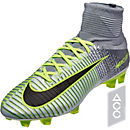 Nike Mercurial Superfly V FG Soccer Cleats - Pure Platinum & Ghost Green