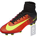 Nike Mercurial Superfly V FG Soccer Cleats - Total Crimson & Volt