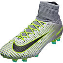 Nike Mercurial Veloce III FG Soccer Cleats - Pure Platinum & Ghost Green