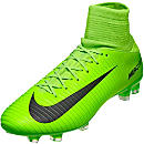 Nike Mercurial Veloce III DF FG Soccer Cleats - Electric Green & Flash Lime