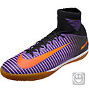 Nike Kids MercurialX Proximo II IC Soccer Shoes - Black & Total Crimson