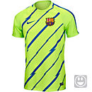 Nike Kids Barcelona Breathe Training Top - Ghost Green & Game Royal